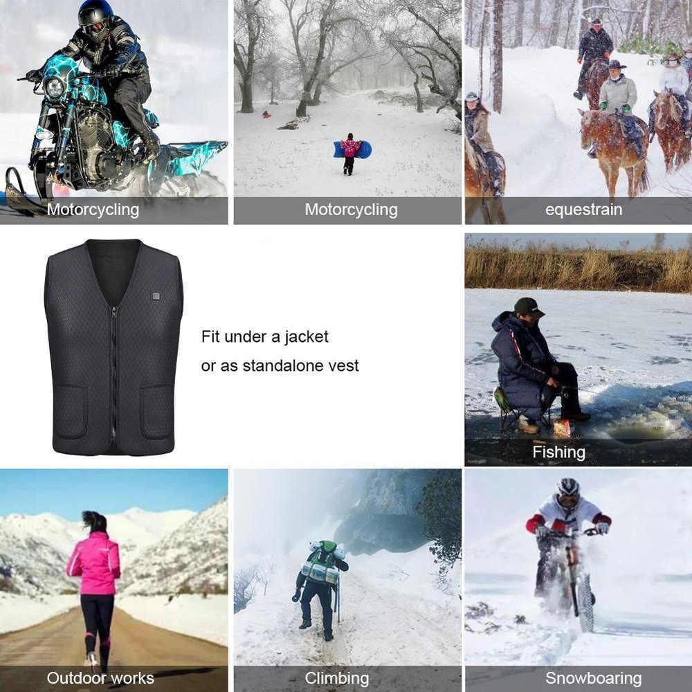 USB Erhitzt Männer Frauen Warme Wandern Westen Jagd Taktische Weste Heizung Mantel Jacke Kleidung für Winter Motorrad Skifahren Wandern