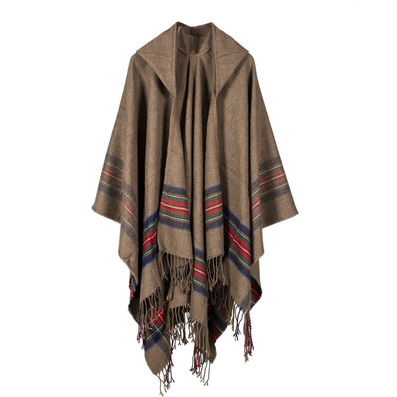 Mingjiebihuo Scotland New Fashion Long Scarf Shawl Female Autumn And Winter New Color Mixed Wild Warm Thick Fringed Scarf