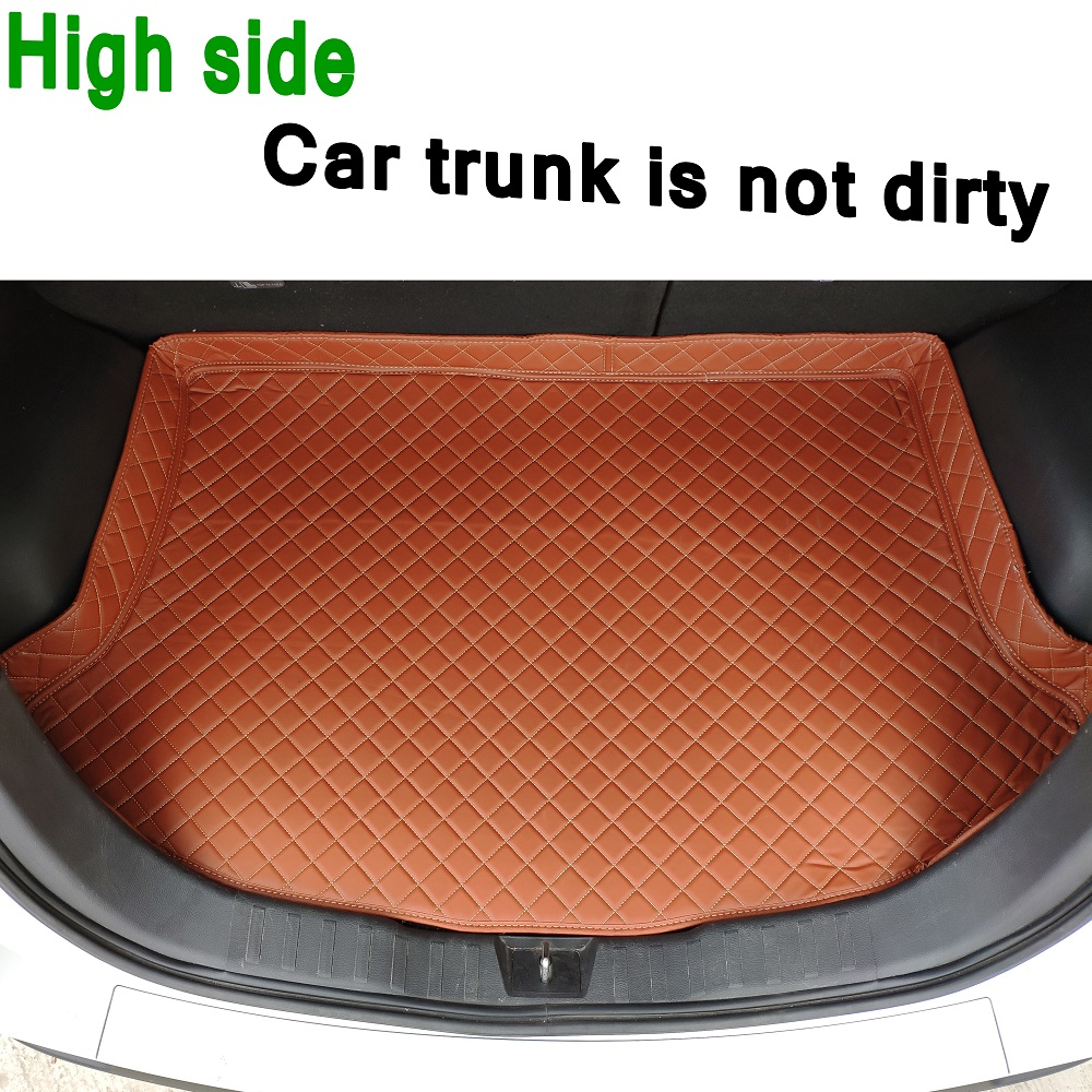 ZHAOYANHUA Custom Fit High Side Car Trunk Mats For Skoda	Octavia RS	Superb	Yeti	Fabia RS	Kodiaq    Durable Boot Carpets