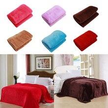 Comfortabele Super Zachte Warme Solid Warm Micro Pluche Fleece Deken Gooi Tapijt Sofa Beddengoed Woonaccessoires цена