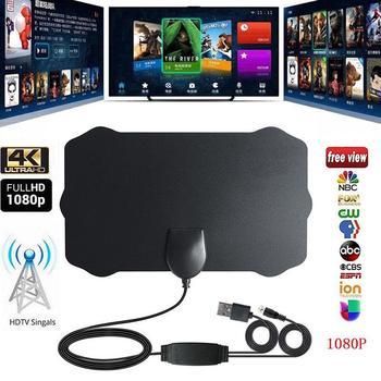 Yiwa 1080P HD Indoor Antenna TV Digital Skywire 4K Antena Digital HDTV with Signal Amplifier 200 Mile Range r30
