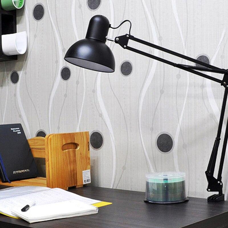 Гибкая мини-Настольная лампа с зажимом и поворотным кронштейном, используемая для работы, учебы, спальни, офиса, железного ремесла, складной...