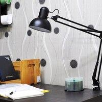미니 유연한 스윙 암 클램프 마운트 책상 램프 작업 연구에 사용 침실 사무실 철 공예 접는 빛|테이블 램프|   -