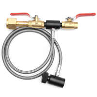 "Paintball Dual Valve Lever 35"" Hose CO2 Fill Station Refill Tank w/ Hose"