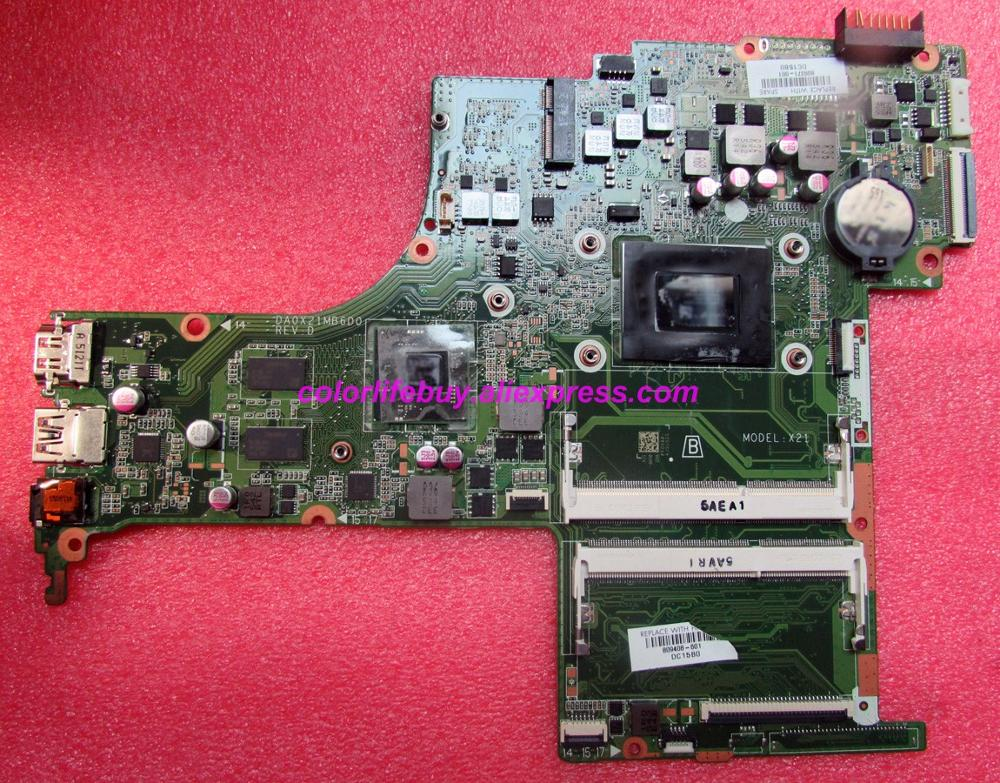 Genuine 809408 601 809408 501 809408 001 DA0X21MB6D0 R7M360 2GB A10 8700P Laptop Motherboard for HP 15 AB 15Z AB00 NoteBook PC-in Laptop Motherboard from Computer & Office