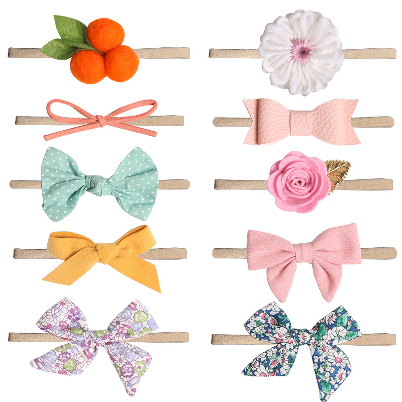 BalleenShiny Bowknot Floral   Headwear   Infant Baby Fashion Cute Elastic Beauty Headdress Headband Toddler Hair Band Accessories