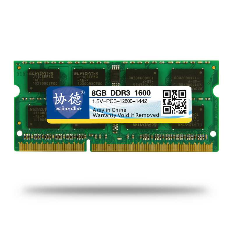 Xiede Laptop Memory <font><b>Ram</b></font> Module <font><b>Ddr3</b></font> 1600 Pc3-12800 204Pin Dimm <font><b>1600Mhz</b></font> For Notebook image