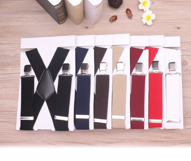 130cm Plus size Suspenders For Heavy duty Men Pants With 4 Strong Clips 5cm Wide Braces With  X-Back Trousers Man Braces Strap 1