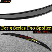 For BMW M5 F90 Spoiler Rear Trunk Wing Tail P Style Carbon Fiber M-Series Lip 2019+