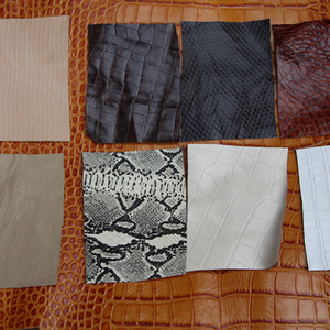 Two-layer embossed leather sna