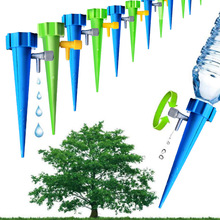 AISN 3pcs lot Automatic Gargen Watering Spike Plant Flower Fountain Irrigation System For Indoor Outdoor garden Watering tool cheap Plastic Watering Kits
