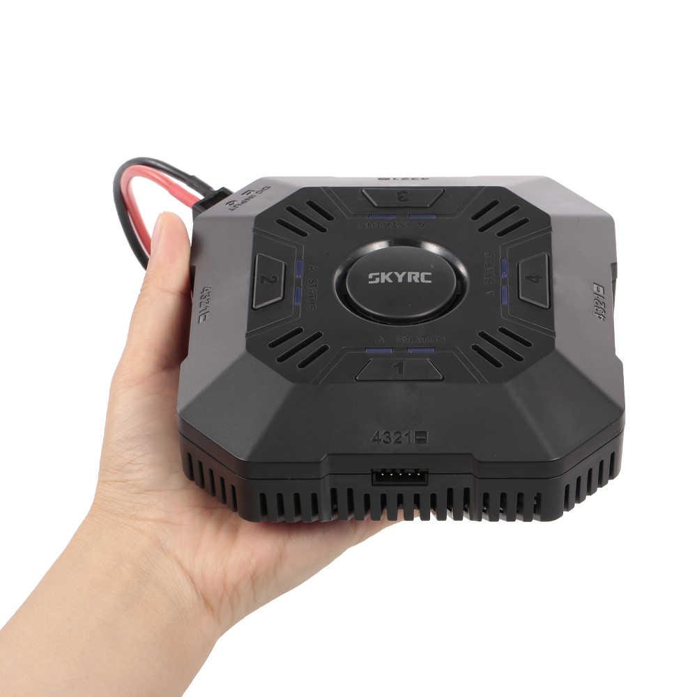 SKYRC E4Q DC Зарядное устройство 4-Порты и разъёмы 2-4 S Lipo Батарея Smart Balance Зарядное устройство с XT60 разъем для Радиоуправляемый Дрон автомобиля Лодка вертолет