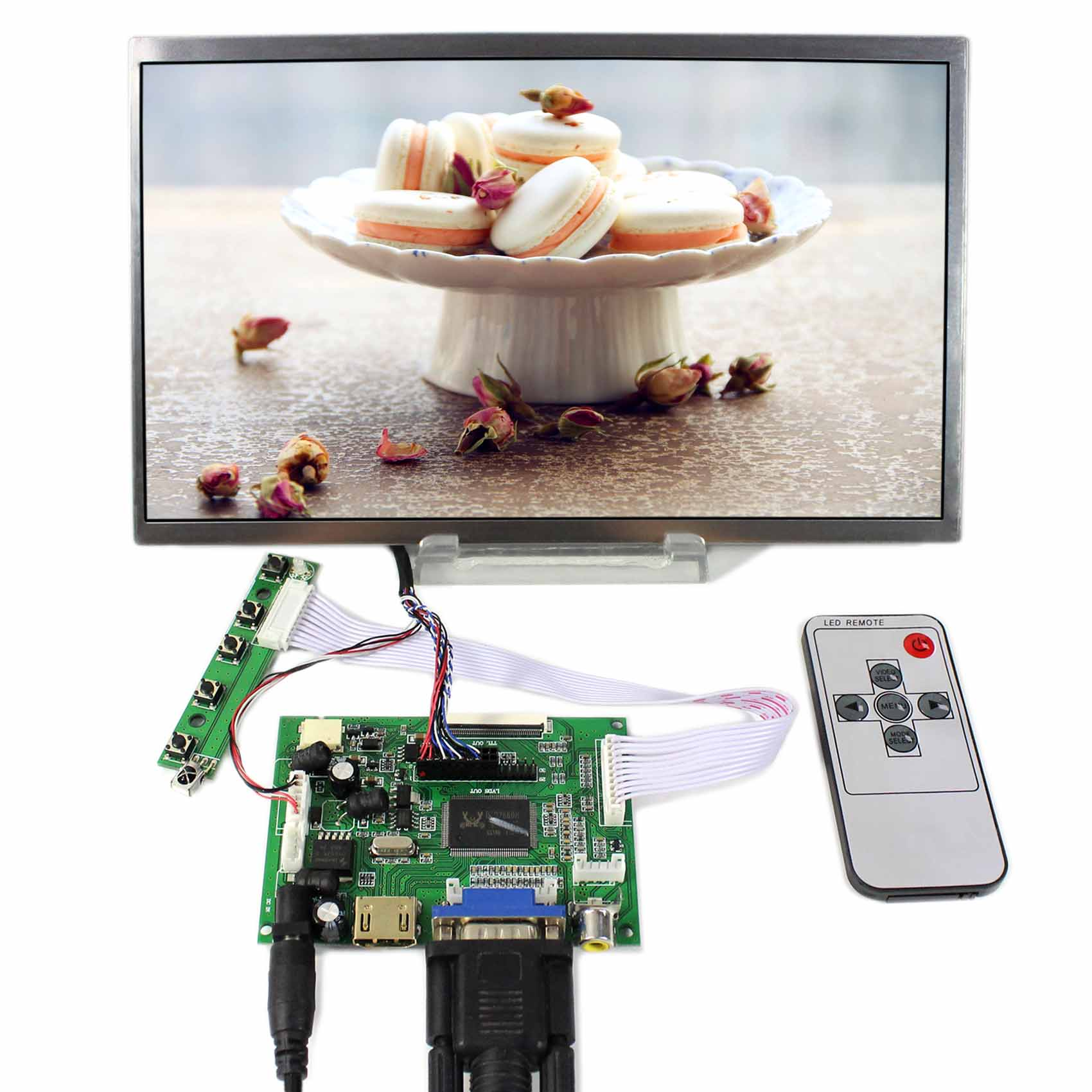 LTN101NT02 B101AW03 N101L6 LP101WS 10.1 LCD Screen 1024X600 LCD Controller Board HDMI VGA CVBSLTN101NT02 B101AW03 N101L6 LP101WS 10.1 LCD Screen 1024X600 LCD Controller Board HDMI VGA CVBS