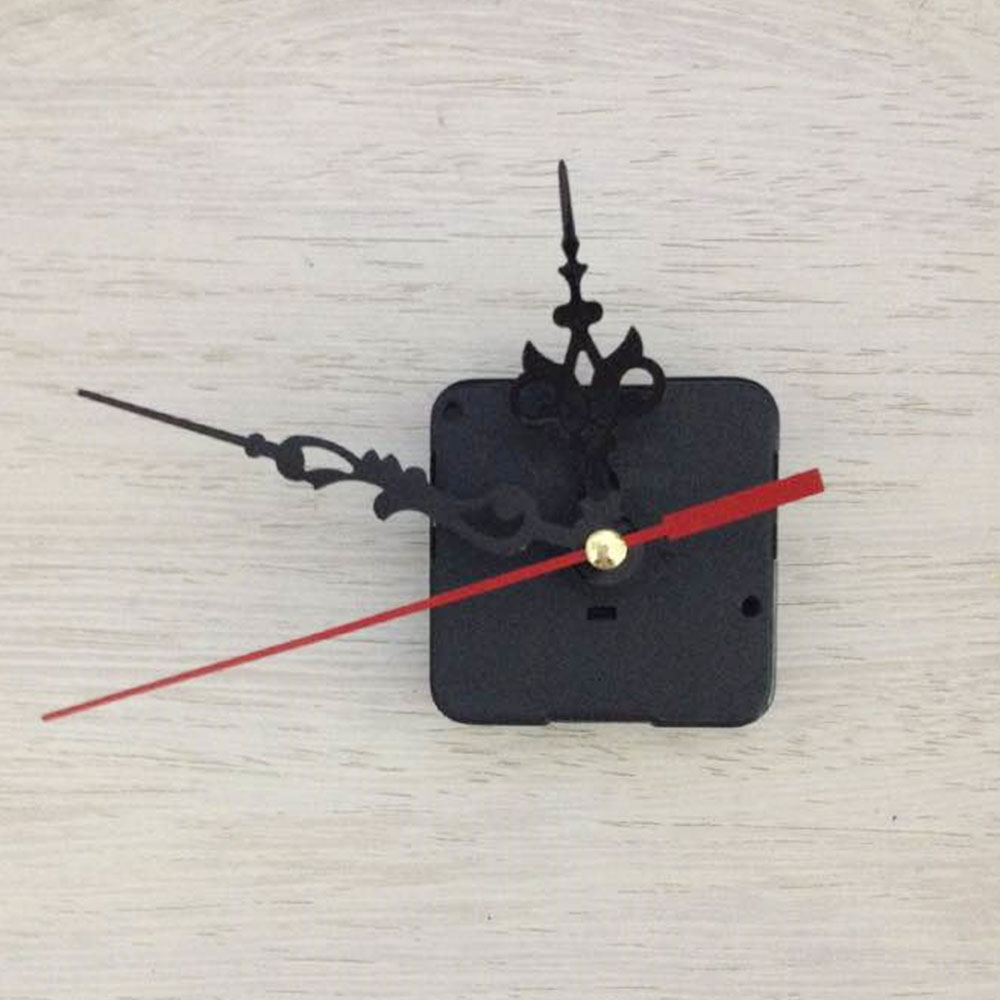 Practical DIY Clock Black Silent Quartz Wall Clock DIY Repair Stitches And Screw Gasket Spindle Movement Mechanism Part