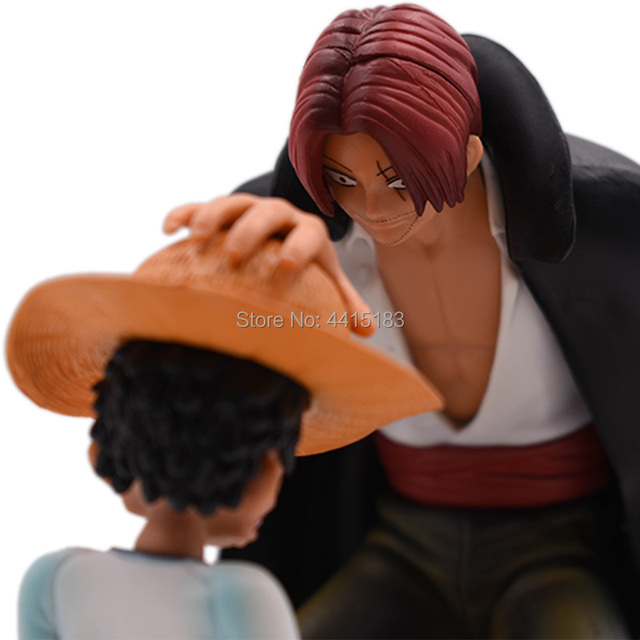 Anime One Piece Four Emperors Shanks Straw Hat Luffy PVC Action Figure Doll Child Luffy Collectible