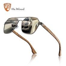 Hu lunettes de soleil en bois pour hommes, lentille polarisée rouge faite à la main, Cool UV400, bonne qualité pour la conduite avec étui Oculos GR8039