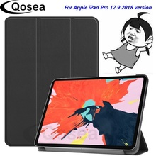 Qosea New For Apple iPad Pro 12.9 2018 PU Leather Smart Stand Case For