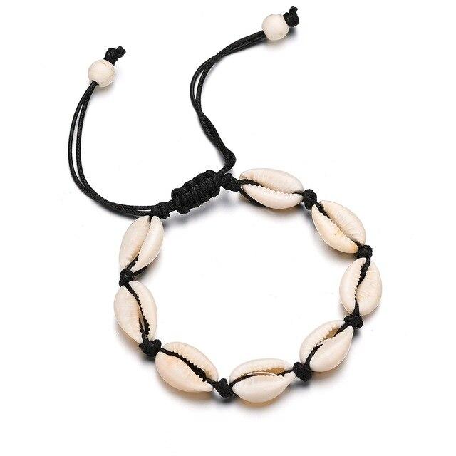 Hot Sale Handmade Natural Seashell Hand Knit Bracelet Shell Bracelets Women Accessories Beaded Strand Bracelet Best Friend Gifts 1