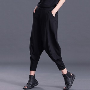 Image 2 - CHICEVER Autumn Winter Womens Pants Female Elastic High Waist Loose Oversize Black Pants Casual Fashion Clothes New