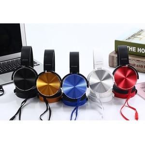 Image 5 - Écouteurs Extra basses 3.5mm AUX casque de jeu pliable Portable réglable écouteur pour ordinateur PC téléphones Auriculares