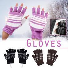 Теплые перчатки с USB подогревом теплое моющееся зимнее уличное Велосипедное перчатки для катания на лыжах мягкие и удобные перчатки для женщин