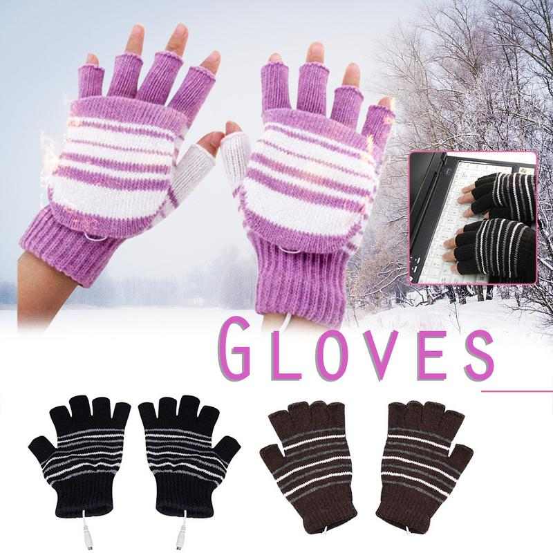 Heating Gloves USB Heated Warm Washable Winter Outdoor Cycling Skiing Gloves Soft And Comfortable Gloves For Women