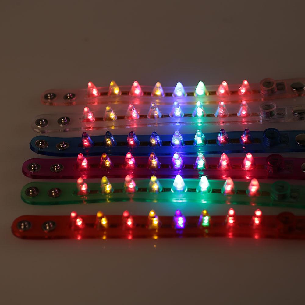 Светящиеся браслеты флэш-браслет игрушки пластик многоцветный светодиодное Рождественское украшение практичный светящийся браслет игра