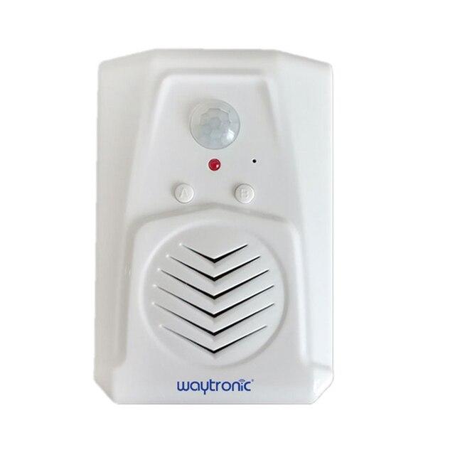 Waytronic Pir capteur de mouvement infrarouge activé voix lecteur Audio enregistrable entrée sonnette de bienvenue pour magasin de magasin avec Usb