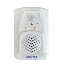 Waytronic Pir kızılötesi hareket sensörü aktif ses kaydedilebilir ses çalar giriş hoşgeldiniz kapı zili mağaza mağaza için Usb ile