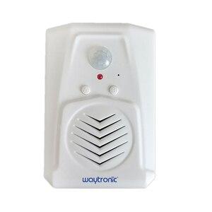 Image 1 - Waytronic Pir kızılötesi hareket sensörü aktif ses kaydedilebilir ses çalar giriş hoşgeldiniz kapı zili mağaza mağaza için Usb ile