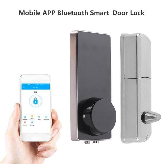 fc00ed0fcfdb Mobile Phone APP Bluetooth WiFi Wireless Smart Electronic Door Lock  Touchscreen Password Lock Safety Door Handle with 2 Key