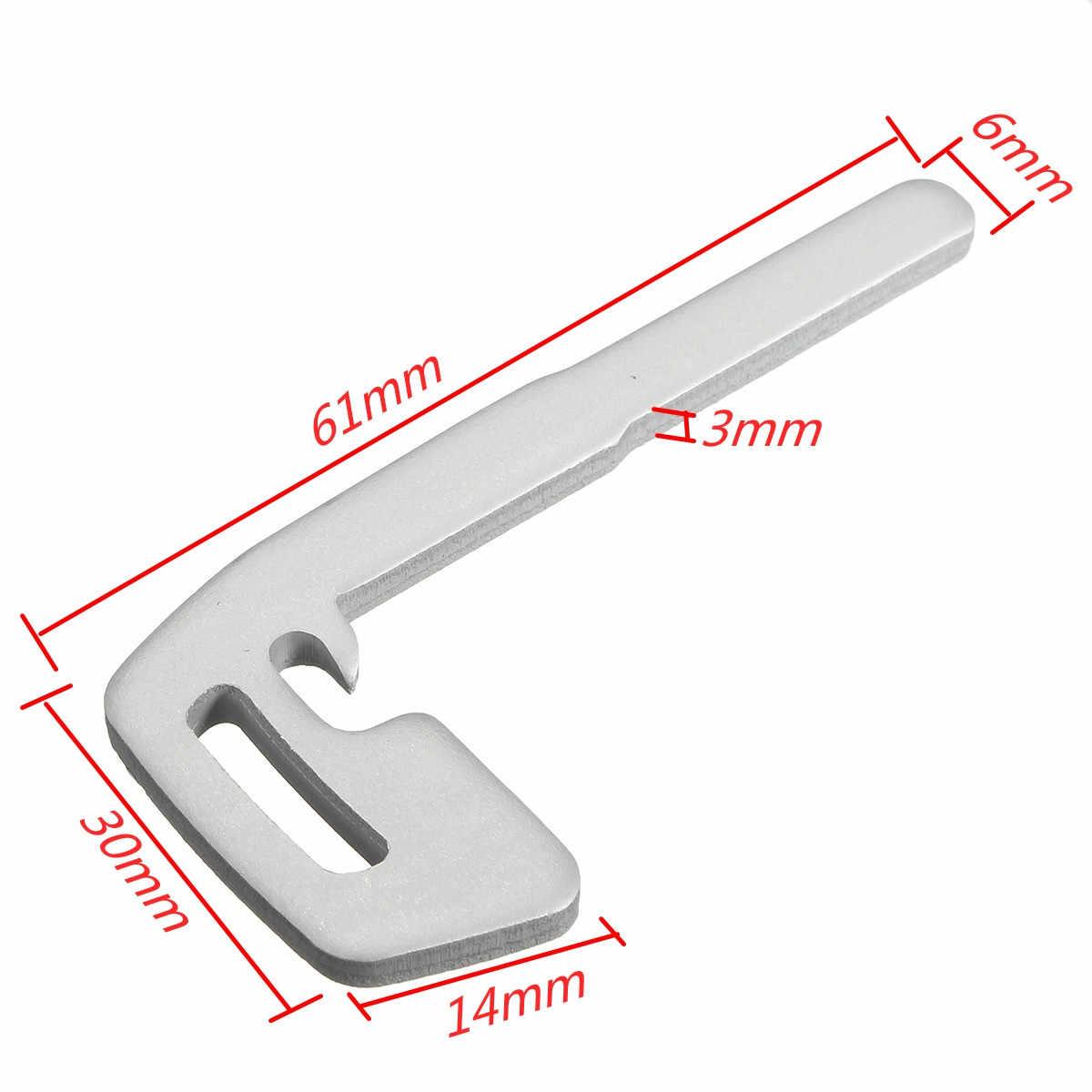 SEGADEN Uncut Blank Emergency Insert Key Blade fit for VOLVO C30 C70 S40 V50 Smart Keyless Entry Remote Key PG787K
