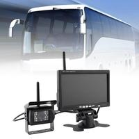 Wireless LED Reverse Reversing Camera & IR Night Vision 7 Car Monitor For Truck Bus Caravan RV Van Trailer Rear View Camera