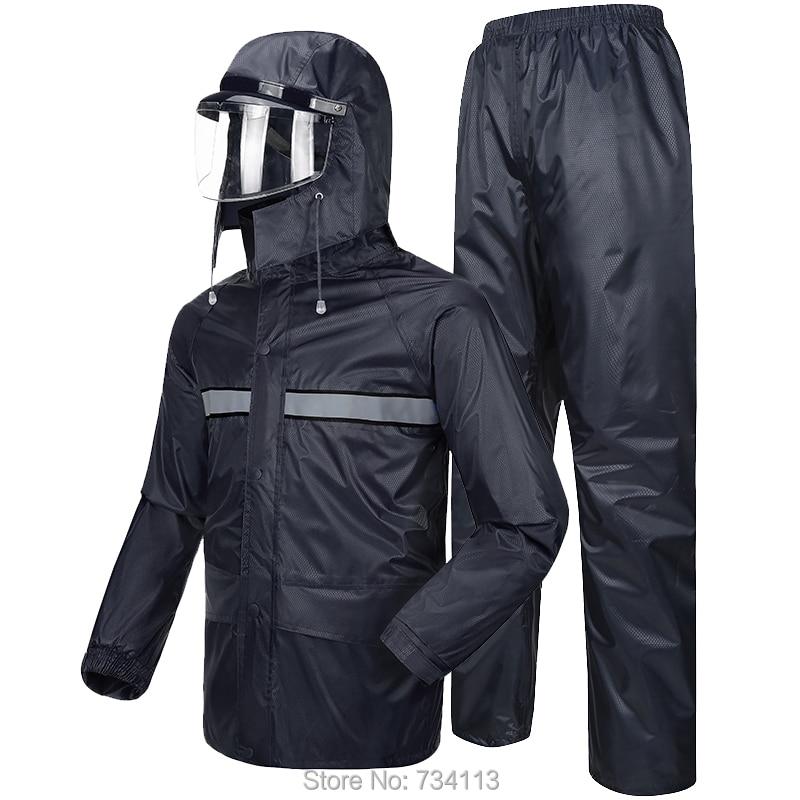MEIBIN Impermeable durable 2018 Raincoat motorsykkel Rain Bukser Riding poncho [Split] Vanntett Rainwear fiskegård utendørs