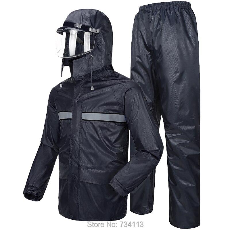 53d8b69f Meiin Impermeable duradero 2019 Impermeable pantalones de lluvia de  motocicleta poncho de montar [Split] Impermeable de La Granja de pesca al  aire ...