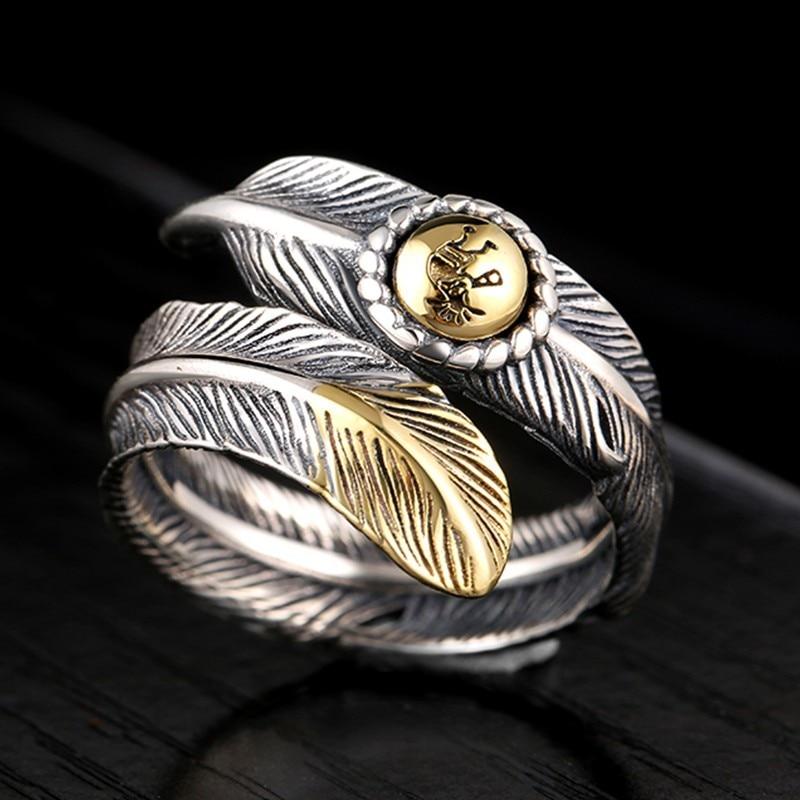 ZABRA 925 Ασημένια δαχτυλίδια vintage φτερά - Κοσμήματα - Φωτογραφία 4