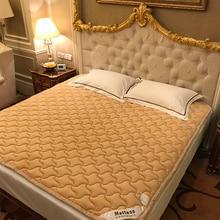Хлопок, коврики для кровати, складной матрас, дышащая Нескользящая защитная подушка для кровати, татами, коврик для студенческого общежития, коврик для кровати