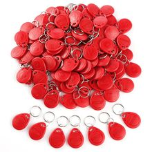 100pcs Cle ID RFID Remote Control Identification Card Door System Entry Access Tag Badge token lock 125KHZ Red