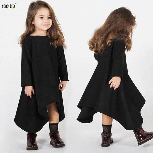 78508abbb5 Children Girls Dress Kids Clothes Spring Autumn Casual Irregular Vacation  Beach Dresses Clothing Girl 3 4 5 6 7 8 Years