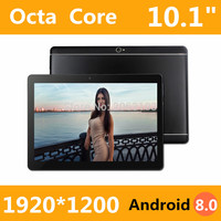 2019 New 10 inch Octa Core 3G Tablet 4GB RAM 32GB ROM 1920*1200 Dual Cameras Android 8.0 Tablet 10.1 inch Free Shipping