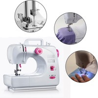 Fanghua 508A Multifunctional 16 Stitches Portable Household Mini Sewing Machine Electric Sewing Machine Replaceable Press Foot