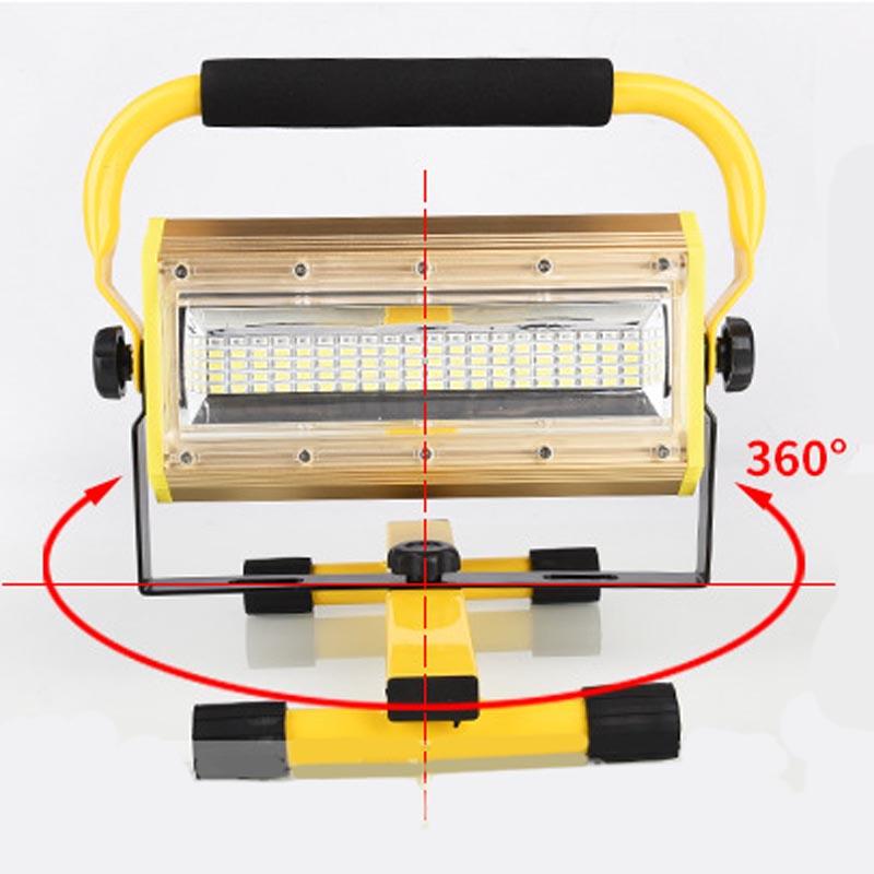 100 Вт 60 светодио дный Портативный Перезаряжаемые работа прожектор месте аварийного Открытый Отдых прожекторы Mayitr