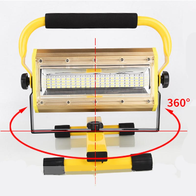 Stalwart Large 60 Led Rechargeable Work Light: 100W 60 LED Portable Rechargeable Work Flood Light Spot