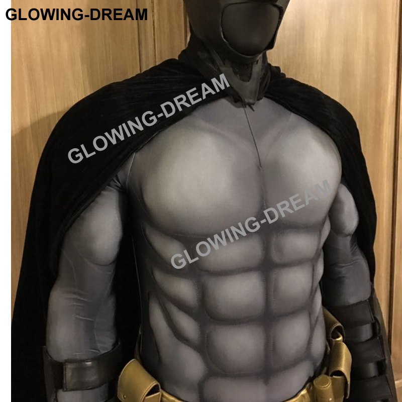 Image 2 - High Quality Batman Costume Batman Muscle Suit With Muslce Padding Inside Only Bodysuit-in Movie & TV costumes from Novelty & Special Use