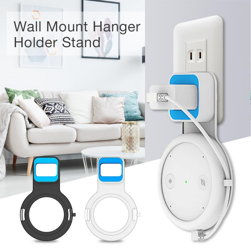 Socket Wall Outlet Mount Hanger Holder for Amazon Echo Input Space Saving Accessories in Bedroom, Bathroom, Kitchen and LivingSocket Wall Outlet Mount Hanger Holder for Amazon Echo Input Space Saving Accessories in Bedroom, Bathroom, Kitchen and Living