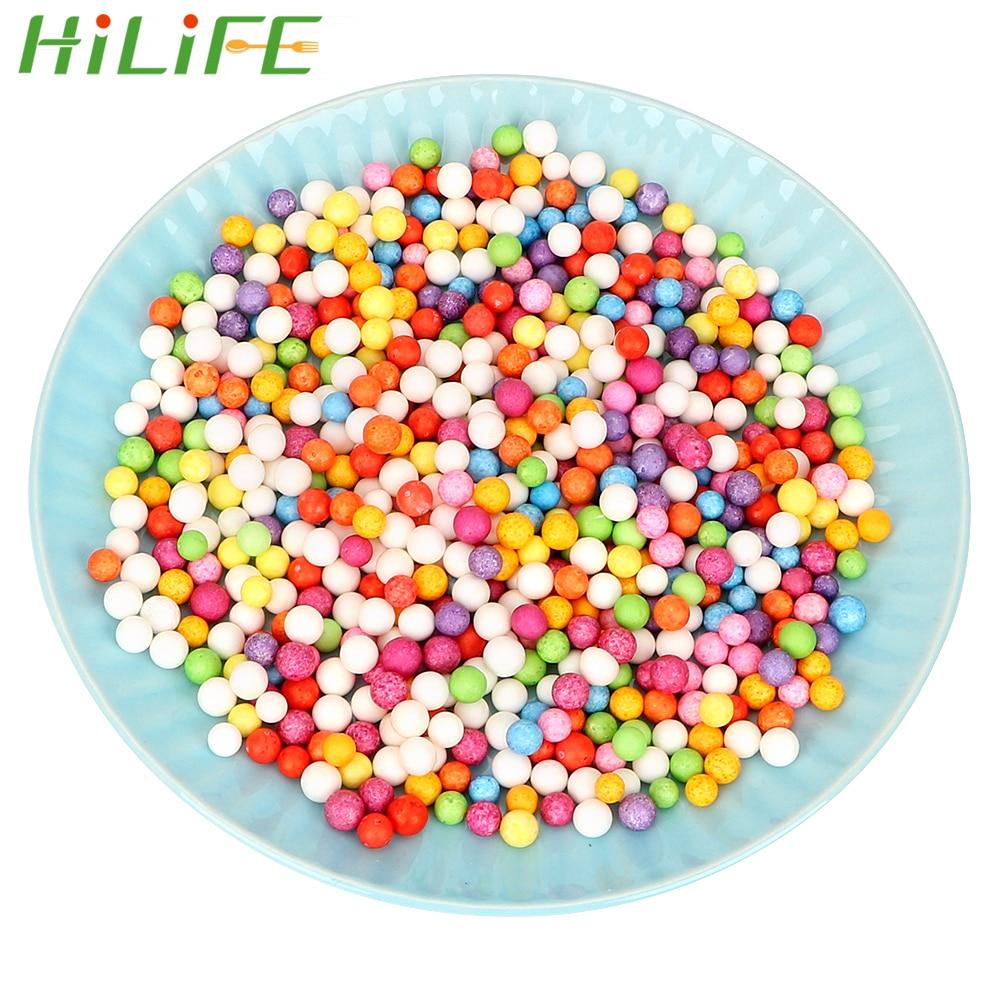 Leuk Hilife 7-9mm Kleuren Versieren Plastic Ronde Foam Mini Kralen Bal Polystyreen Piepschuim Kussen/sofa Filler 2000 Stks
