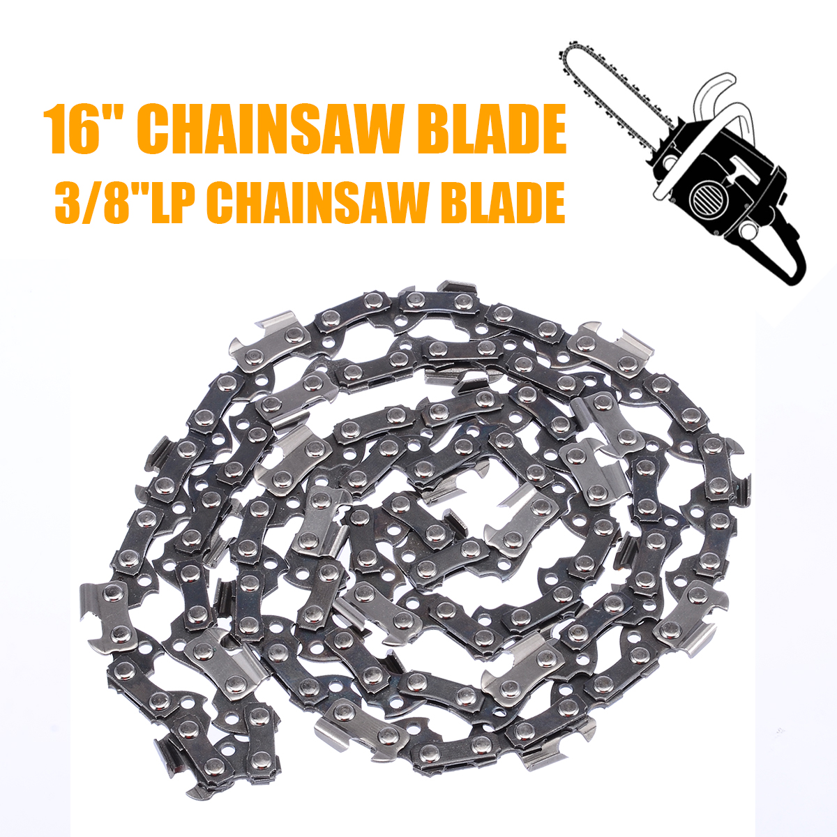 <font><b>16</b></font> <font><b>inch</b></font> <font><b>Chainsaw</b></font> Saw <font><b>Chain</b></font> Blade Pitch 3/8