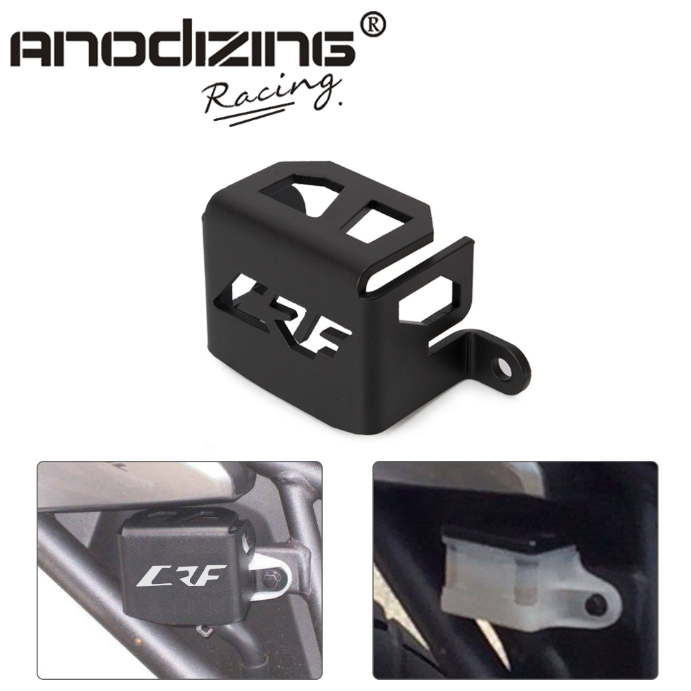 Motorcycle <font><b>CNC</b></font> Aluminum Reservoir Rear Brake Guard Protective Cover For HONDA CRF1000L Africa Twin CRF 2016 <font><b>2017</b></font> 2018 2019 image