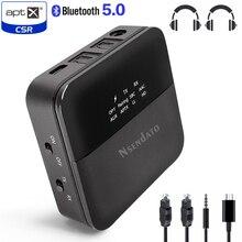 3.5mm hd bluetooth 5.0 receptor transmissor de áudio sem fio csr8675 aptx áudio auto em adaptador para tv carro aptx hd ll baixa latência