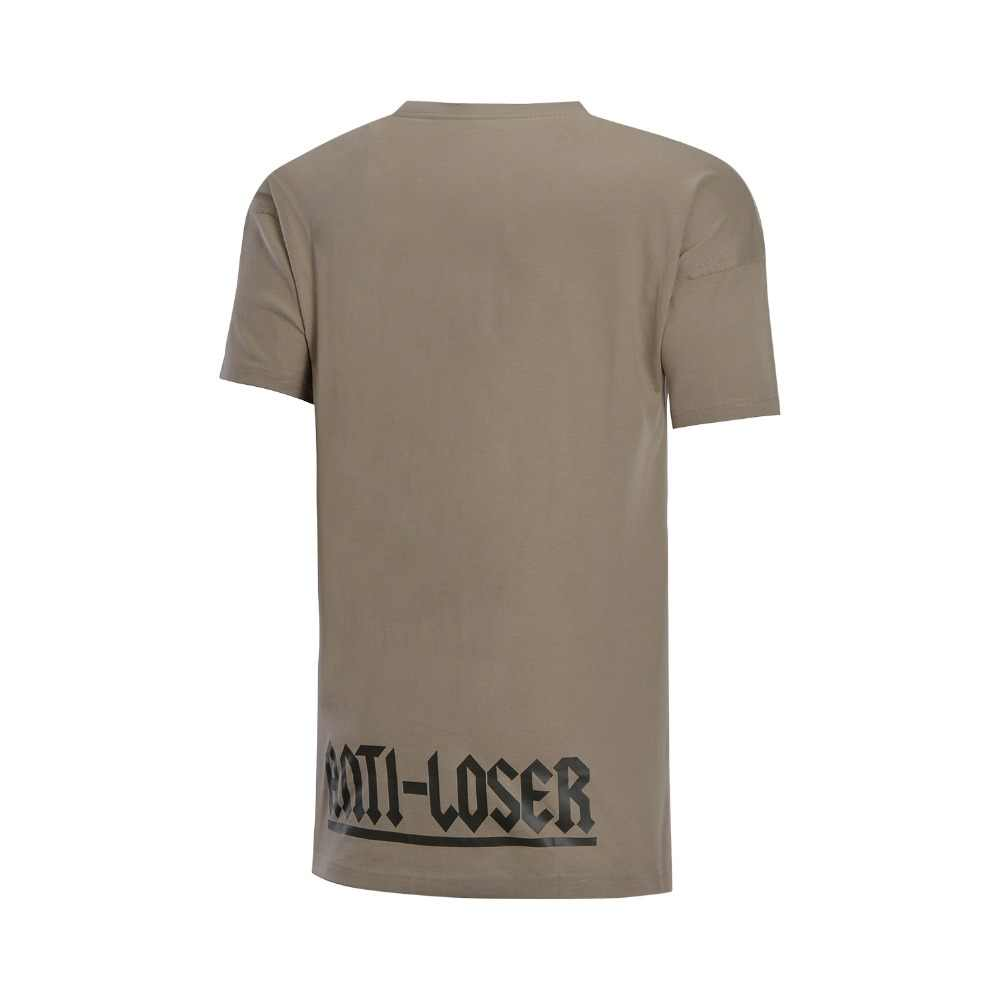(Break Code) li-Ning Men BADห้าบาสเกตบอลเจอร์ซีย์ 100% ผ้าฝ้ายหลวมFitเสื้อซับLi Ningกีฬาเสื้อยืดTEE AHSN059 MTS2808